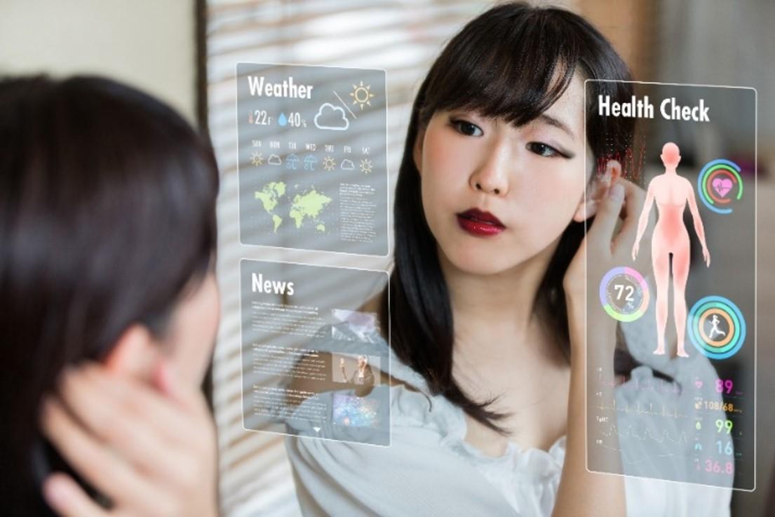 Virtual makeup for smart mirrors